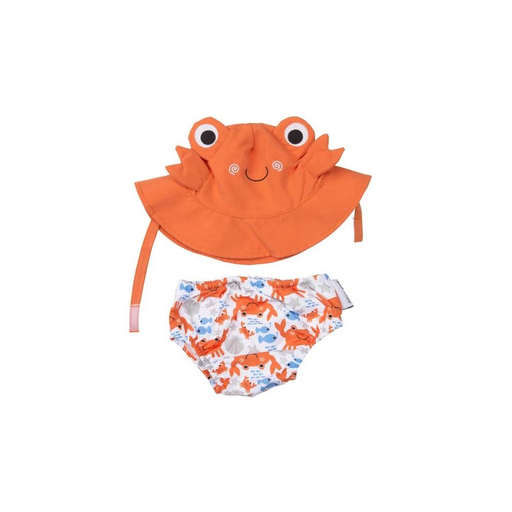 bañador y gorrito protege a tu bebé